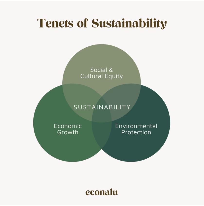 venn diagram showing tenets of sustainability