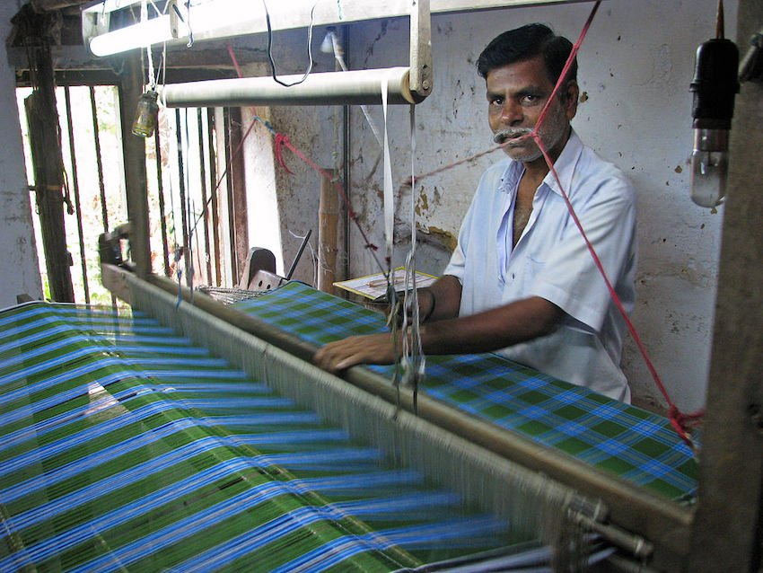 Traditional Indian weaver