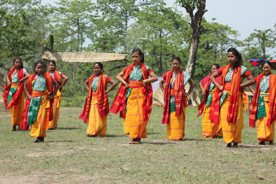 Indian women in traditional sarees