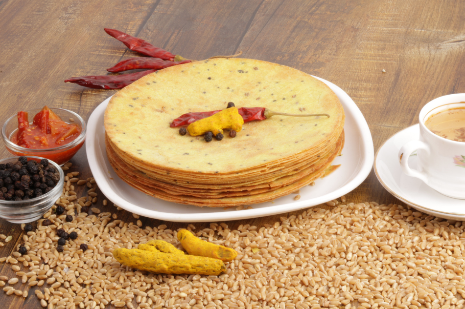 Stack of Khakhra a Indian snack